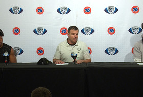 Oregon football's press conference following its Pac-12 championship victory over Utah