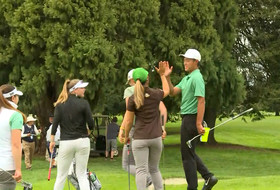 Oregon golfers get support from fellow Ducks at 2019 Pac-12 Men's Golf Championships