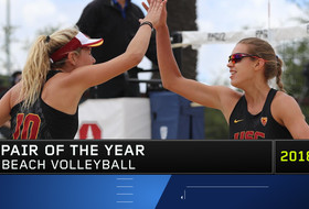 USC's Tina Graudina and Abril Bustamante, top-ranked duo in the country, named Pac-12 Beach Volleyball Pair of the Year