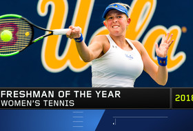 UCLA's No. 32 nationally ranked freshman, Elysia Bolton, takes Pac-12 Women's Tennis Freshman/Newcomer of the Year accolades