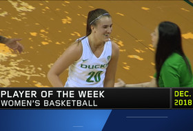 Sabrina Ionescu's record-setting stretch for Oregon garners Pac-12 Women's Basketball Player of the Week honors