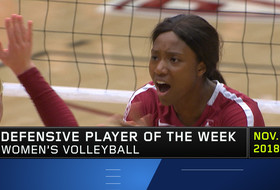 Stanford's Tami Alade wins second-straight Pac-12 volleyball Defensive Player of the Week honor