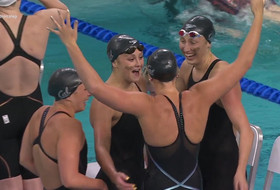 Cal breaks American record, takes first place in 200-yard freestyle relay at NCAA Women's Swimming Championships