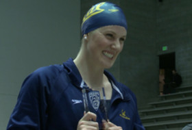 Former California women's swimmer, five-time Olympic gold medalist Missy Franklin announces her retirement from competitive swimming