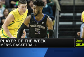 Washington's Jaylen Nowell garners his third Pac-12 Men's Basketball Player of the Week honor of the season