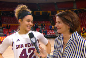 Kianna Ibis explains final play in No. 19 ASU's grind-it-out win over No. 24 Cal, productive showing on offense