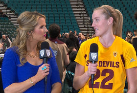 2019 Pac-12 Women's Basketball Tournamet: Arizona State's Courtney Ekmark talks staying 'confident' in the second half to notch season-high-tying six triples against Colorado