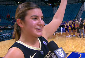 2019 Pac-12 Women's Basketball Tournament: Amber Melgoza on Washington's second upset win: 'We're playing with some good heart right now'