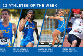 Pac-12 announces outdoor track & field athletes of the week
