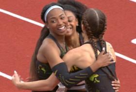 2017 Pac-12 Track & Field Championships: Deajah Stevens paces as Oregon women complete 100m sweep