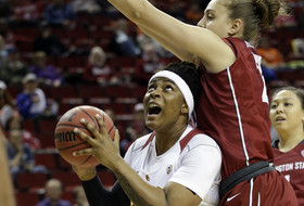 2016 Pac-12 Women's Tournament: USC Trojans edge Washington State 77-73