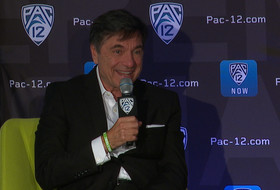 USC's Mark Trakh shares his feelings of respect towards Tammy Blackburn at Pac-12 Women's Basketball Media Day