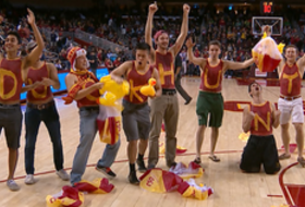 Student Section Challenge: USC goes 'Duck Hunting' against Oregon