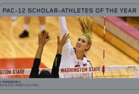 WSU's Schoenlein voted Pac-12 volleyball Scholar-Athlete of the Year