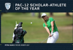 Oregon's Salko named Pac-12 Women's Golf Scholar-Athlete of the Year