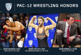 Valencia, Willits, Borrelli capture Pac-12 wrestling honors