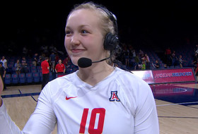 Arizona women's volleyball's Paige Whipple on beating California: 'It's a good sweep on our home court'