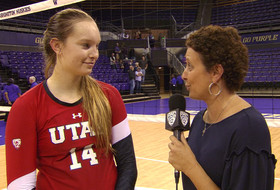No. 25 Utah women's volleyball's Megan Yett on upsetting No. 13 Washington: 'We knew that we had to serve tough and play some good defense'