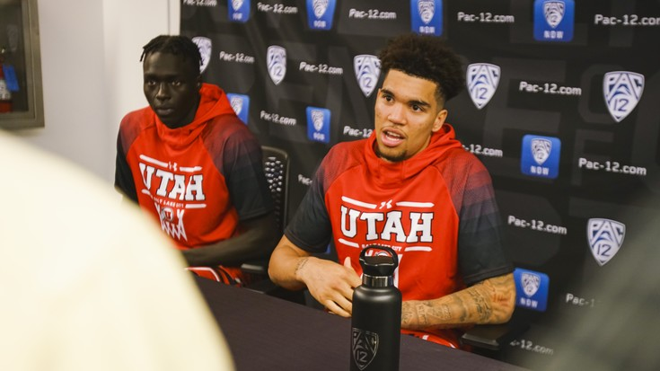 2019 Pac-12 Men's Basketball Media Day: Youthful Utes turn to sophomores Timmy Allen, Both Gach for leadership