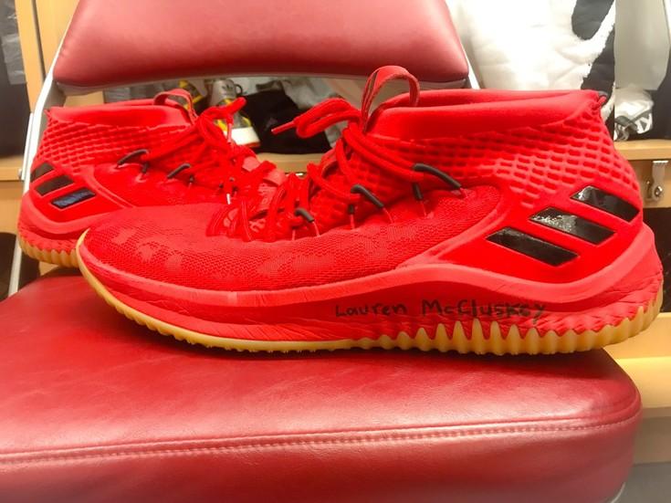 Roundup: Utah Jazz shooting guard Donovan Mitchell honors Lauren McCluskey on his game shoes