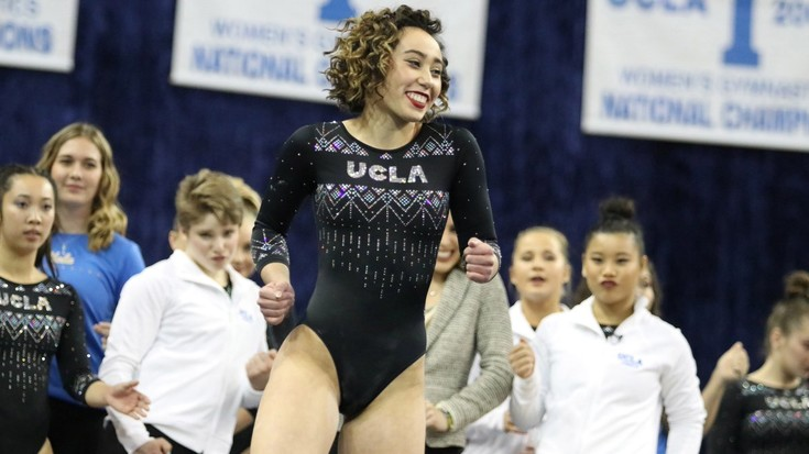 UCLA's Katelyn Ohashi's perfect floor routine goes viral