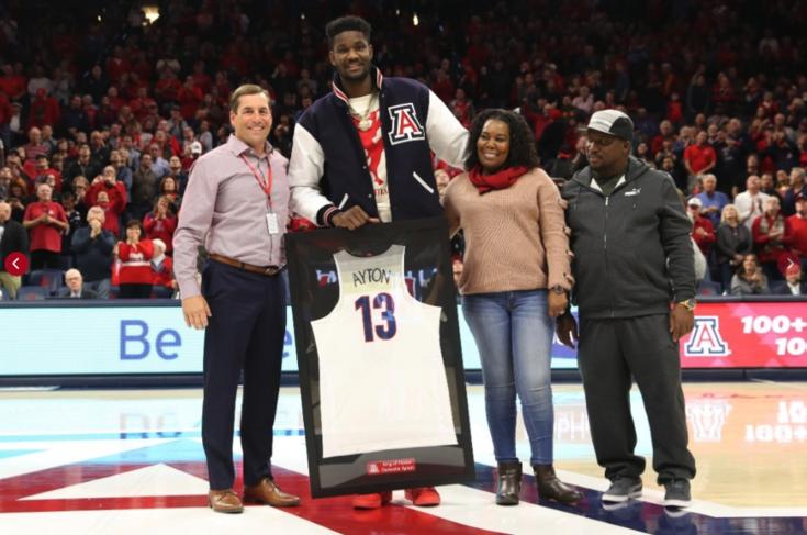 Roundup: Deandre Ayton joins Arizona basketball's Ring of Honor