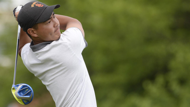NCAA men's golf championship: USC, Justin Suh in prime position entering Sunday