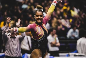 Leonard-Baker Wins Bars Title, No. 21 @SunDevilGym Takes Third at NCAA Regionals