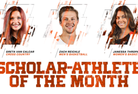 Reichle, Thropay, Van Calcar Named Scholar Athletes of the Month