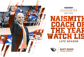 Rueck Tabbed to Naismith Coach of the Year Late Season Watch List