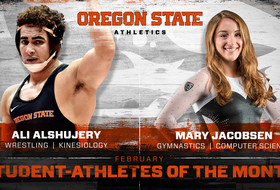 Alshujery and Jacobsen Honored as Student-Athletes of the Month