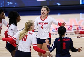 Cats Fall to USC in Four-Set Battle