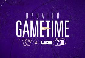 Washington-UAB Delayed Until 12:30 PM PT