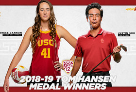 Cannon and Suh Named 2018-19 Pac-12 Tom Hansen Medal Winners