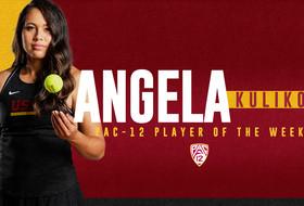Angela Kulikov Wins Pac-12 Player of the Week