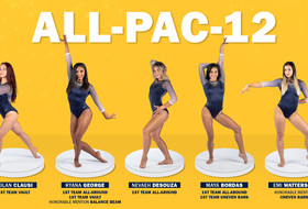 Gymnasts Claim School-Record 8 All-Conference Honors