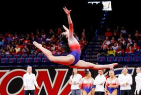 No. 21 Arizona Earns 195.975 and Season-High on Bars against No. 4 Utah