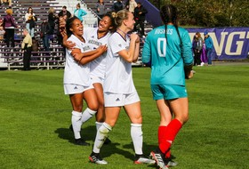 Two First-Half Goals Carry Huskies To Win In Corvallis