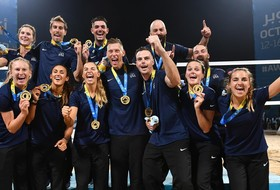 Former USC Men's and Women's Volleyball Stars Win Gold at World Beach Games