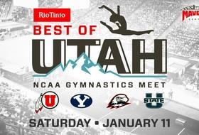 Utah Gymnastics To Compete at Annual Rio Tinto Best of Utah NCAA Gymnastics Meet at Maverik Center
