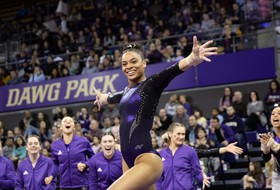 GymDawgs Earn Season-High Floor Score, Finish Second to #7 Denver