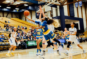 No. 9 UCLA Cruises  to 71-52 Win at UCSB