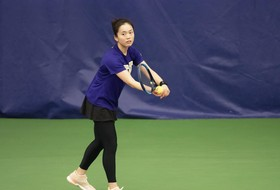 Huskies Pull Upset In Doubles But Fall 5-2 at Kansas