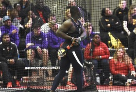 Oloyede Breaks School Weight Throw Record at NAU Tune Up