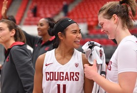 Hristova and Molina Lead Women's Basketball to an Exhibition Win