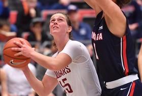 Women's Basketball Handed a 76-53 loss by No. 17/18 Gonzaga at Beasley