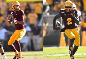 @ASUFootball's Jayden Daniels and Brandon Aiyuk Earn Weekly Awards