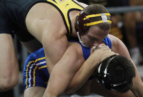 Wrestling's Stauffer Upsets Two En Route To NCAA Quarters