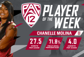 Molina Earns Pac-12 Player of the Week Honors After a Big Weekend in the Bay Area