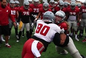 Cougar Football Puts on Pads for First Time at Spring Practice